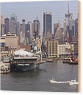 Midtown Manhattan Panorama Wood Print