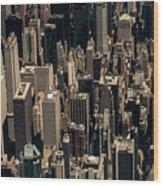Midtown Manhattan Skyline Aerial Wood Print