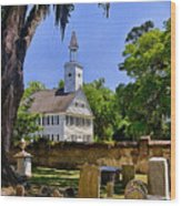 Midway Congregational Church Wood Print