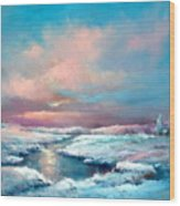 Midwest Snowfall Wood Print