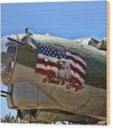 Mighty B-17 Fortress Wood Print