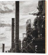 Mighty Bethlehem Steel Wood Print