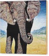 Mighty Elephant Wood Print