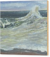 Mighty Nauset Wave Wood Print