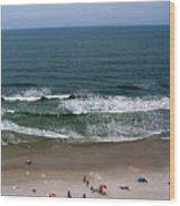Mighty Ocean Aerial View Wood Print