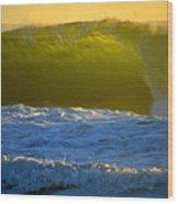 Mighty Ocean At Sunrise Wood Print