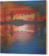 Migration At Summer's End Wood Print