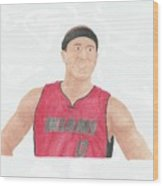 Mike Bibby Wood Print