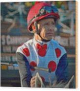 Mike Smith- Horse Jockey Wood Print
