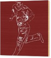 Mike Trout Home Run Trot Wood Print