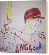 Mike Trout Wood Print