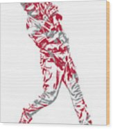 Mike Trout Los Angeles Angels Pixel Art 20 Wood Print