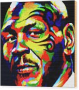 Mike Tyson Abstract Wood Print