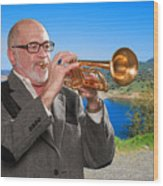 Mike Vax Professional Trumpet Player Photographic Print 3761.02 Wood Print