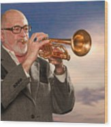 Mike Vax Professional Trumpet Player Photographic Print 3765.02 Wood Print