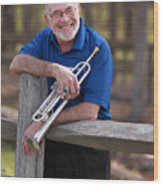 Mike Vax Professional Trumpet Player Photographic Print 3766.02 Wood Print