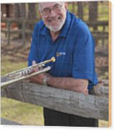 Mike Vax Professional Trumpet Player Photographic Print 3767.02 Wood Print