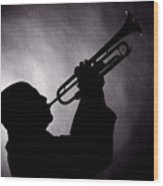 Mike Vax Professional Trumpet Player Photographic Print 3768.02 Wood Print