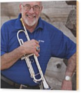 Mike Vax Professional Trumpet Player Photographic Print 3770.02 Wood Print