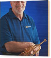 Mike Vax Professional Trumpet Player Photographic Print 3771.02 Wood Print
