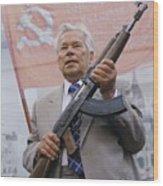 Mikhail Kalashnikov, Russian Gun Designer Wood Print