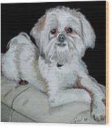 Miki Dog Wood Print