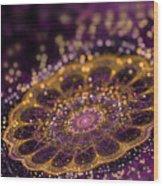 Mikroskopic I Wood Print by Sandra Hoefer