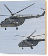 Mil Mi-17 Helicopters Of The Czech Air Wood Print