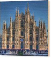 Milan Duomo Wood Print