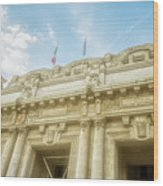 Milan Italy Train Station Facade Wood Print