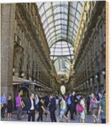 Milan Shopping Mall Wood Print
