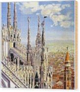 Milan Travel Print Wood Print