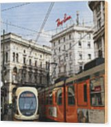 Milan Trolley 4 Wood Print