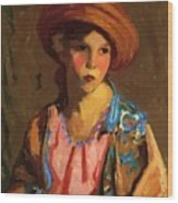 Mildred O Hat Wood Print