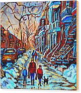 Mile End Montreal Neighborhoods Wood Print