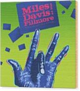 Miles At The Fillmore Wood Print