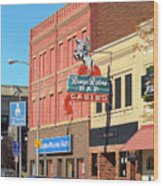 Miles City, Montana - Downtown Casino 2 Wood Print
