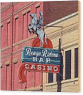 Miles City, Montana - Downtown Casino Wood Print
