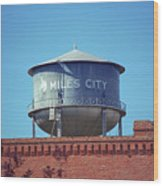Miles City, Montana - Water Tower Wood Print