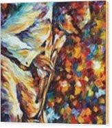 Miles Davis - Gold Trumpet Wood Print