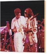 Miles Davis Image 10 And Bob Berg 1985 Your Under Arrest Tour Wood Print