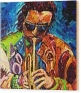 Miles Davis Hot Jazz Portraits By Carole Spandau Wood Print