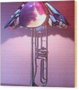 Miles Davis Lamp Wood Print