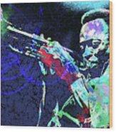 Miles Jazz Wood Print