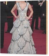 Miley Cyrus Wearing A Zuhair Murad Gown Wood Print