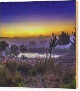 Milfontes Sunrise Wood Print