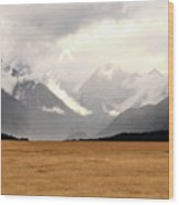 Milford Sound Mountains On South Island New Zealand Wood Print