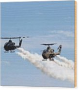 Military Helicopters Wood Print