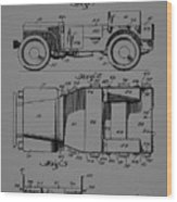 Military Vehicle Body Patent Drawing 1d Wood Print