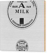 Milk Bottle Caps Wood Print